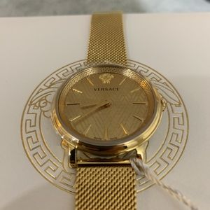 New Versace Gold-Tone Stainless Steel Watch